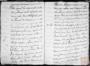 Página 27 y 28: Corresponde a a la microfilmación realizada por el CECOMi sobre las Respuestas Generales depositadas en Simancas e individualizada por pueblos según el Catastro