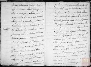 Página 33 y 34: Corresponde a a la microfilmación realizada por el CECOMi sobre las Respuestas Generales depositadas en Simancas e individualizada por pueblos según el Catastro