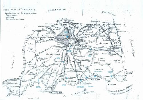 Terminos de Laguna de Duero con fuentes y manantiales II