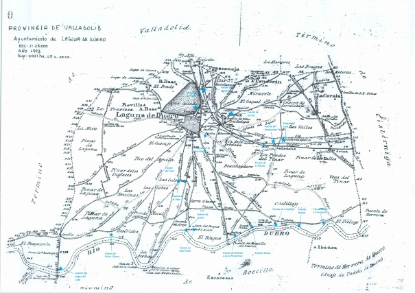 Terminos de Laguna de Duero con fuentes y manantiales III