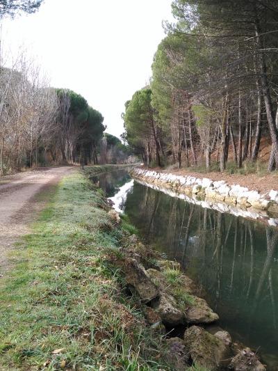 Recta hasta el puente del camino de La Cistérniga a Boecillo.