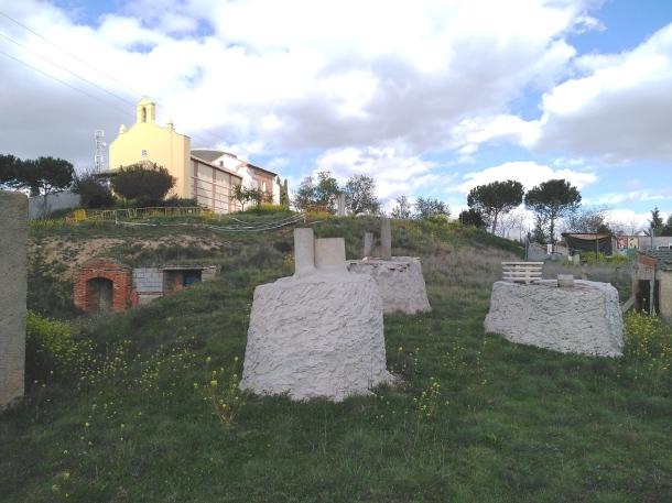 Zona de bodegas en el Villar