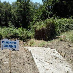 Segunda intervención-limpieza de la Fuente Juana, por el Ateneo de Laguna yAphal