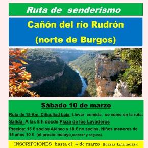 Excursión de senderismo al Cañón del ríoRudrón