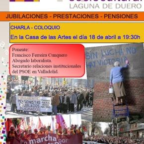Charla-Coloquio: Jubilaciones, prestaciones y pensiones, a cargo de FranciscoFerreira