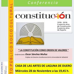 La Constitución como orden de valores, a cargo de ÓscarSánchez