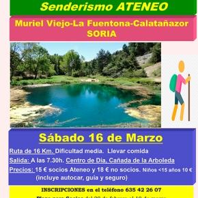 Excursión de senderismo a la Fuentona(Soria)