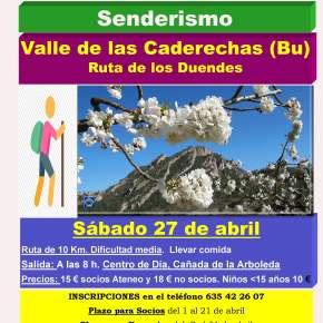 Excursión de senderismo al Valle de las Caderechas(Burgos)