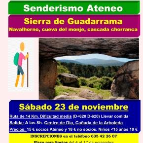 Excursión de senderismo a la Sierra deGuadarrama