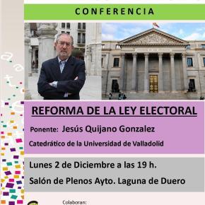 Conferencia: La reforma de la LeyElectoral