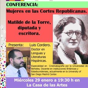 Conferencia: Las mujeres en las CortesRepublicanas